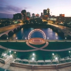 The Simon Estes Ampitheater and Des Moines Skyline