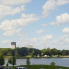 Gray's Lake and part of the Des Moines Skyline