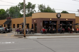 Outside of Saints Pub and Patio