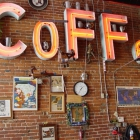 Coffee and wall trinkets