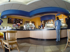 The counter of Blue Sky Creamery