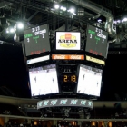 The Wells Fargo Arena Scoreboard