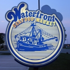 The Waterfront Seafood Market Sign