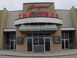 The entrance of the Springwood Theaters