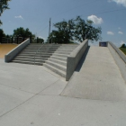 A 10 stair, rail, ledges, and a quarter pipe