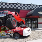 The monster truck and stock car