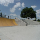 Quarter pipe, 10 stair, rail, and ledges