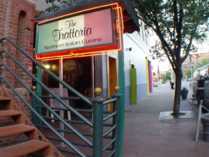 The entrance to Trattoria